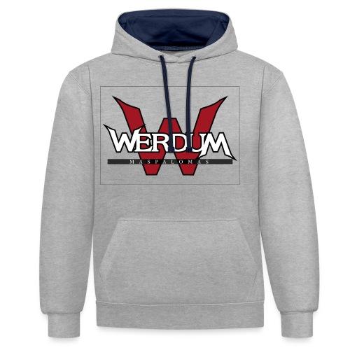 Werdum Maspalomas - Sudadera con capucha en contraste