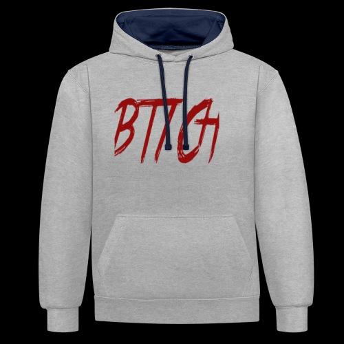btch red png - Kontrast-hettegenser
