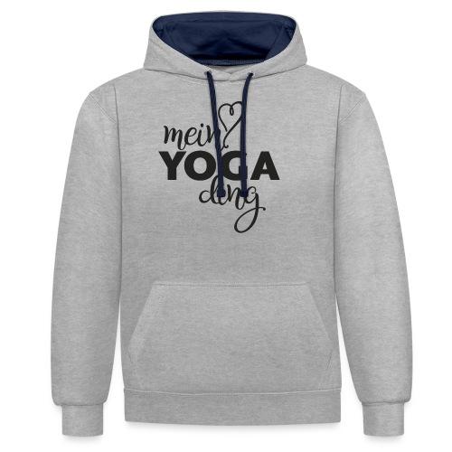 Mein Yogading schwarz - Kontrast-Hoodie