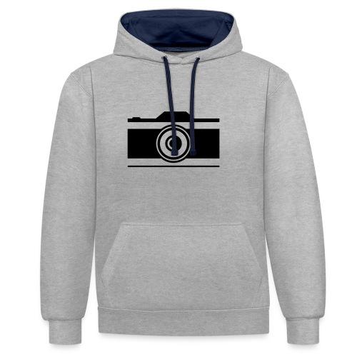 Kamera - Kontrast-Hoodie