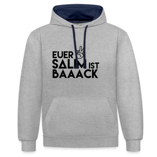 Euer Salim Black - Kontrast-Hoodie