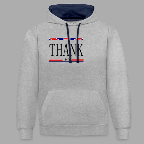 THANK ME - Trend Eddition - Contrast Colour Hoodie