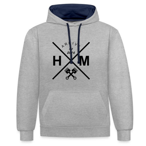 logo 2 png - Contrast Colour Hoodie