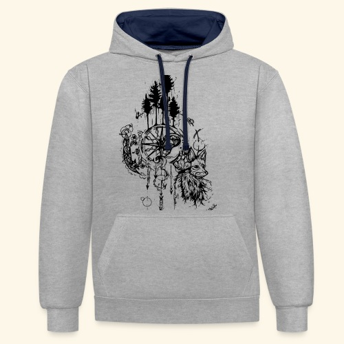 renard nature - Sweat-shirt contraste