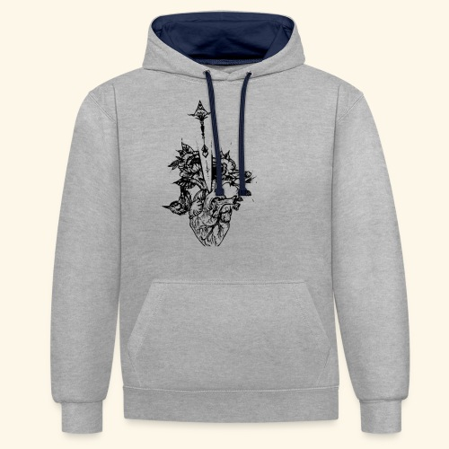 la nature du coeur - Sweat-shirt contraste