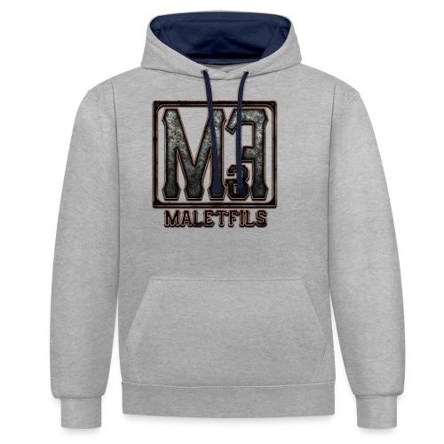 maletfils new logo v2 vig - Sweat-shirt contraste