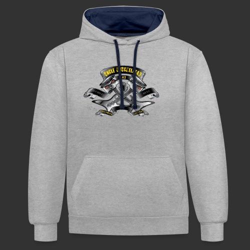screaming pistons - Contrast hoodie