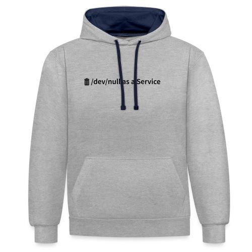 /dev/null as a Service w - Kontrast-Hoodie