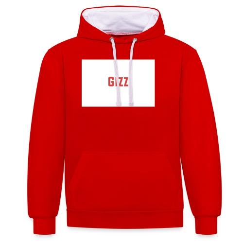 Gizz rood - Contrast hoodie