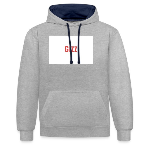 Gizz rood - Contrast hoodie