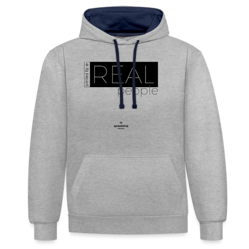 Real in black - Contrast Colour Hoodie