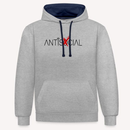 Antisocial - Contrast Colour Hoodie