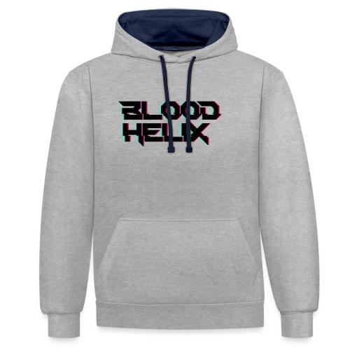 Logo Blood Helix - Bluza z kapturem z kontrastowymi elementami