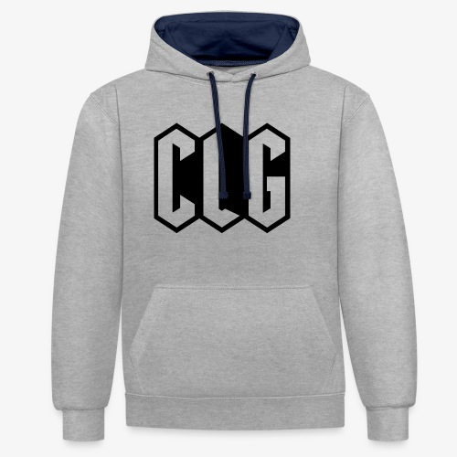 CLG DESIGN black - Sweat-shirt contraste