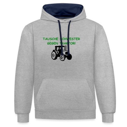 Traktor - Kontrast-Hoodie