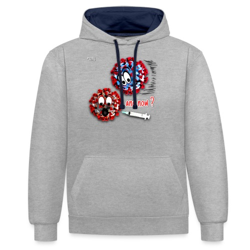 The vaccine ... and now? - Kontrast-Hoodie