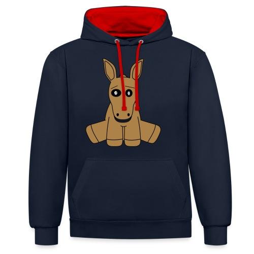 horse - Felpa con cappuccio bicromatica