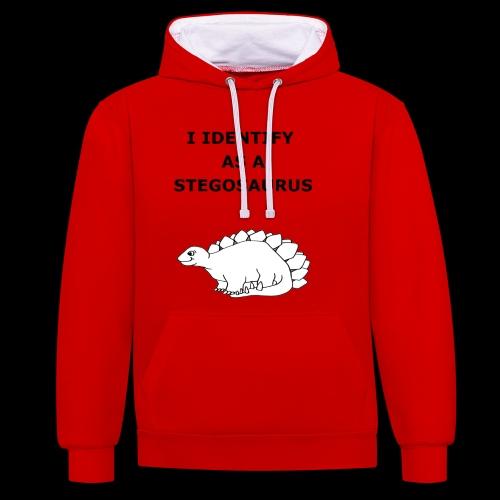 Stegosaurus - Contrast Colour Hoodie