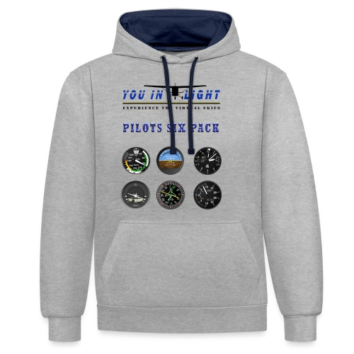 Pilots six pack shirts - Kontrast-hættetrøje