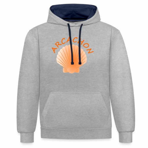 Arcachon Shell - Contrast Colour Hoodie