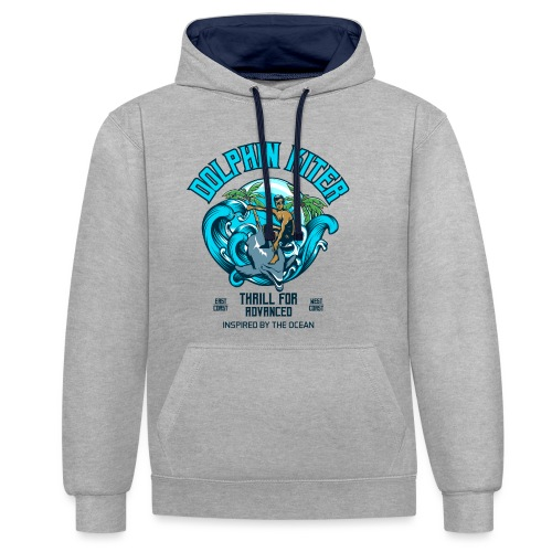 Dolphin Kitesurfer for advanced - Kontrast-Hoodie