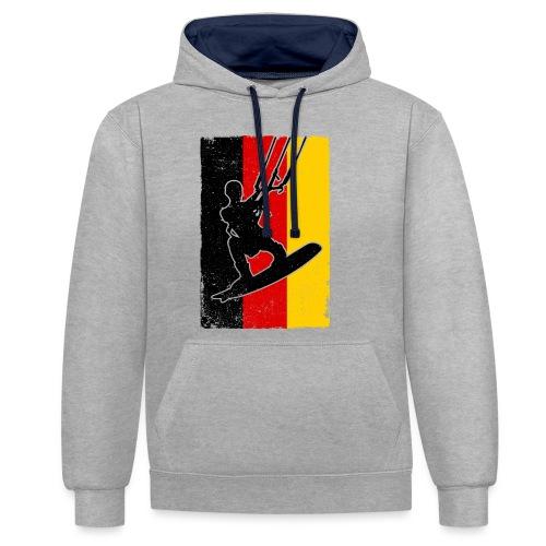 Kitesurfer Germany - Kontrast-Hoodie