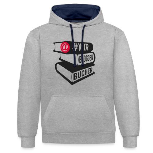#wirbloggenbücher Logo - Kontrast-Hoodie