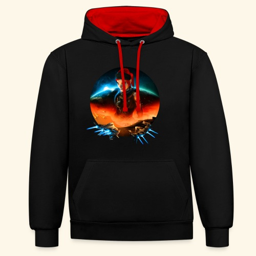 Pirate Galaxy Poster - Contrast Colour Hoodie