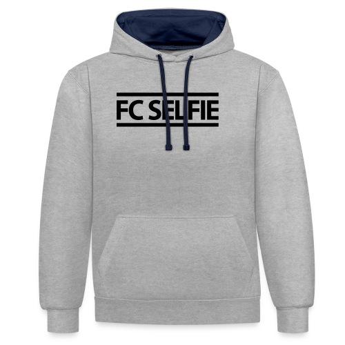 FCSELFIE Logo-Print - Kontrast-Hoodie