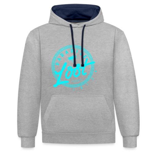 Paradise Lost Ibiza - Acid Blue Logo - Contrast Colour Hoodie