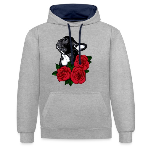 The French Bulldog Is So Famous - Contrast Colour Hoodie