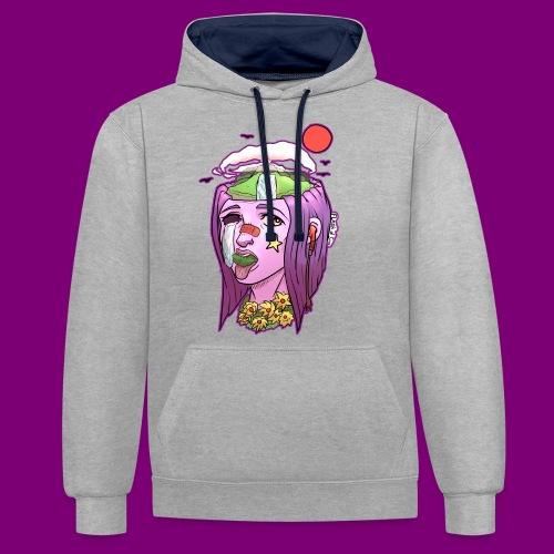 Pink Girl - Contrast hoodie