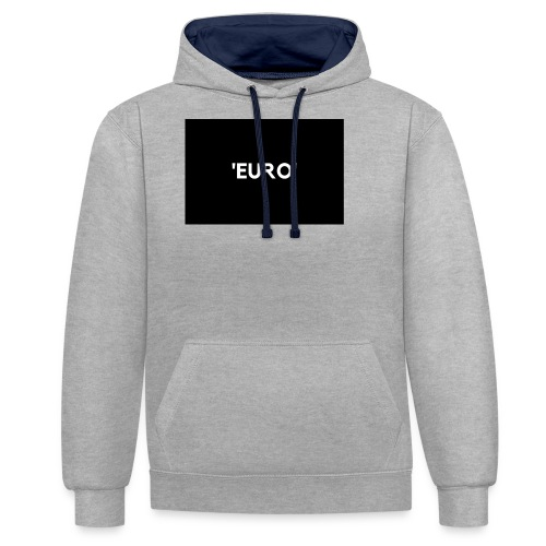 EURO - Kontrast-hættetrøje