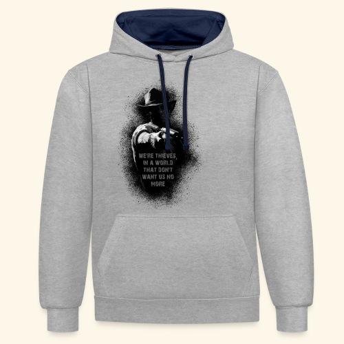 Black morgan - Sweat-shirt contraste