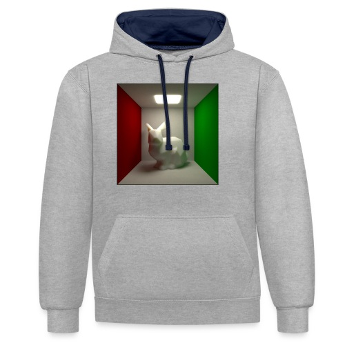 Bunny in a Box - Contrast Colour Hoodie