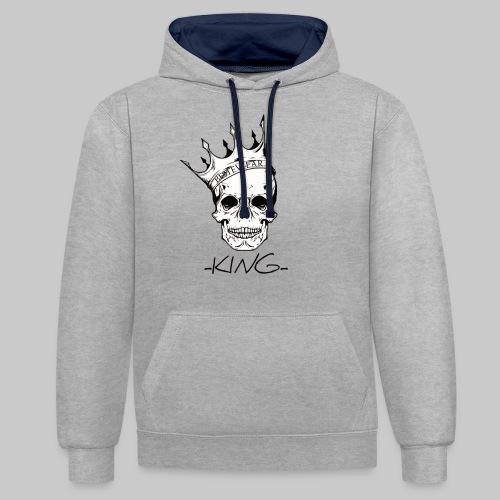 #Bestewear - King - Kontrast-Hoodie