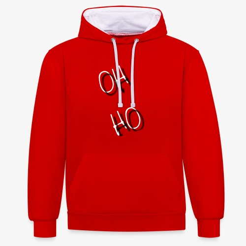 OH HO - Contrast Colour Hoodie