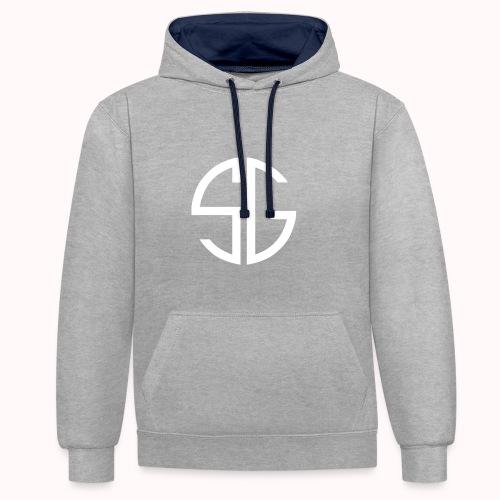 SemGamer log in wit - Contrast hoodie