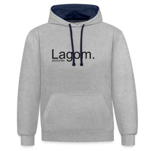 Lagom Pictures Logo Dark - Contrast Colour Hoodie