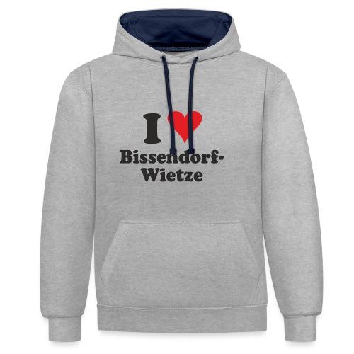I Love Bissendorf-Wietze - Kontrast-Hoodie