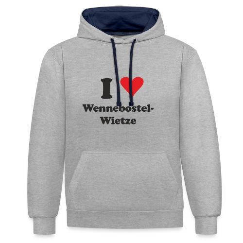I Love Wennebostel-Wietze - Kontrast-Hoodie