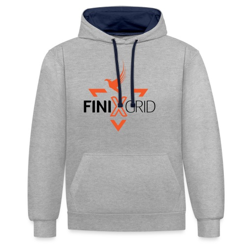 FinixGrid Orange - Contrast Colour Hoodie
