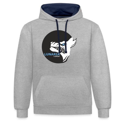 Lunaria_Logo tete pleine - Sweat-shirt contraste
