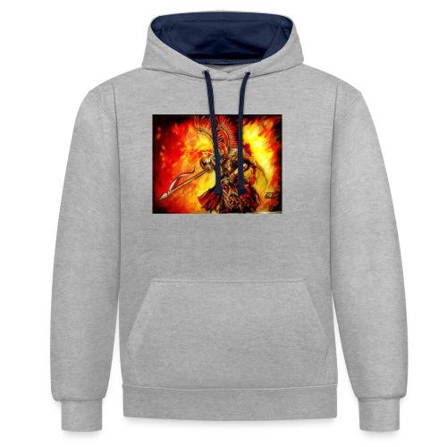 ogien - Bluza z kapturem z kontrastowymi elementami