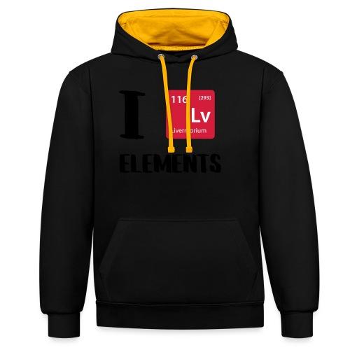 I love Elements - Kontrast-Hoodie