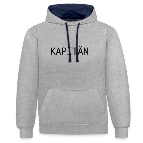Kapitän - Kontrast-Hoodie