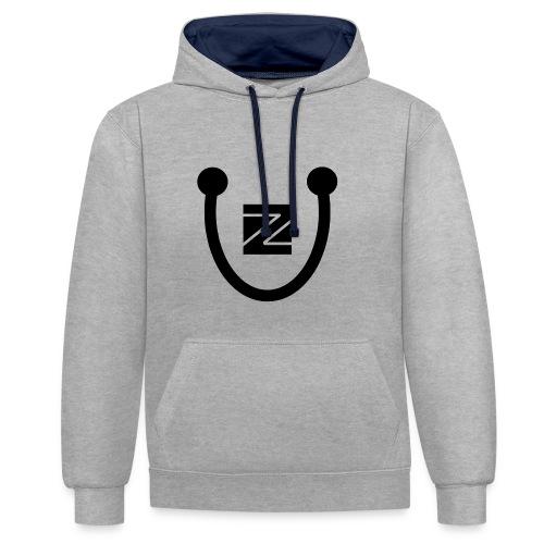 ZU logo - Contrast Colour Hoodie