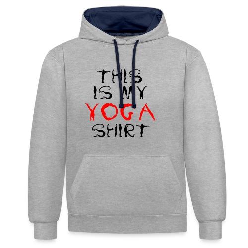 camicia yoga sport namaste spiritualità pace amore - Felpa con cappuccio bicromatica