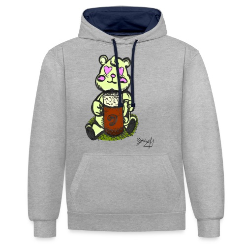 Ours Amoureux AngelerasCorp - Sweat-shirt contraste