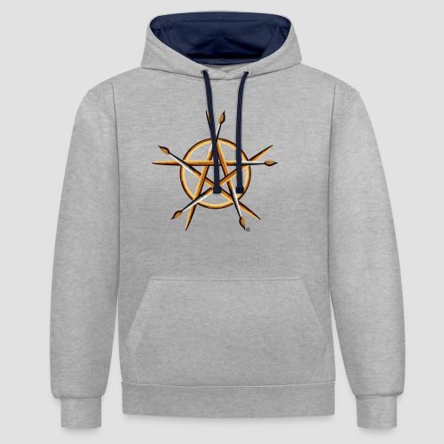 PAGAN PAINTER - Contrast Colour Hoodie